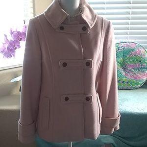 Soft, fluffy pink wool coat/jacket